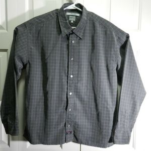 Tommy Hilfiger Men SzL Grey Long Sleeve Button-Up